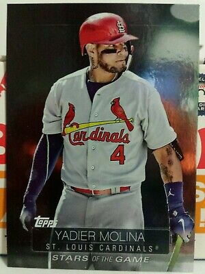 2019 TOPPS SERIES 1 STARS OF THE GAME INSERT CARD OF YADIER MOLINA NO. SSB-82