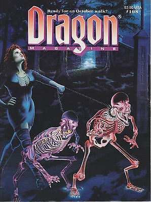 Tsr Halloween (TSR Dragon Magazine #198 AD&D Dungeons and Dragons Halloween & Horror Issue!)