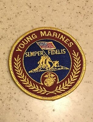 YOUNG MARINES SEMPER FIDELIS EMBROIDERED PATCH