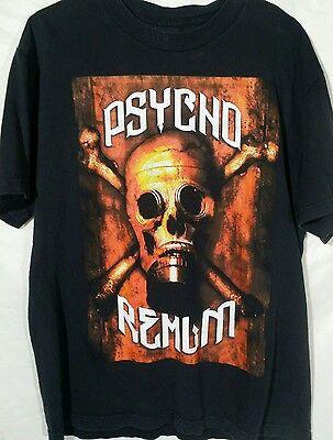 Considerate The Psycho Realm Gas Mask orange Trim Black Short Sleeve T-shirt