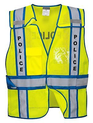 10pk Portwest Public Safety Hi Vis Police Vests Size Mxl-2xl4xl Us387