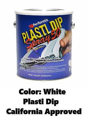 Performix Plasti Dip Spray 50 White Gallon Low Voc California Ca Free Sh