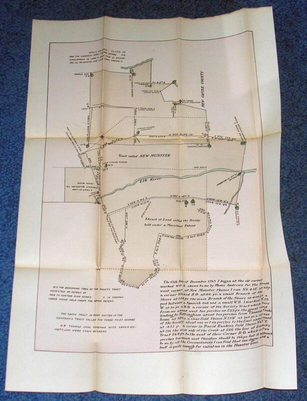 1763    MAP of New Munster Pennsylvania. 19th Century Reprint #24