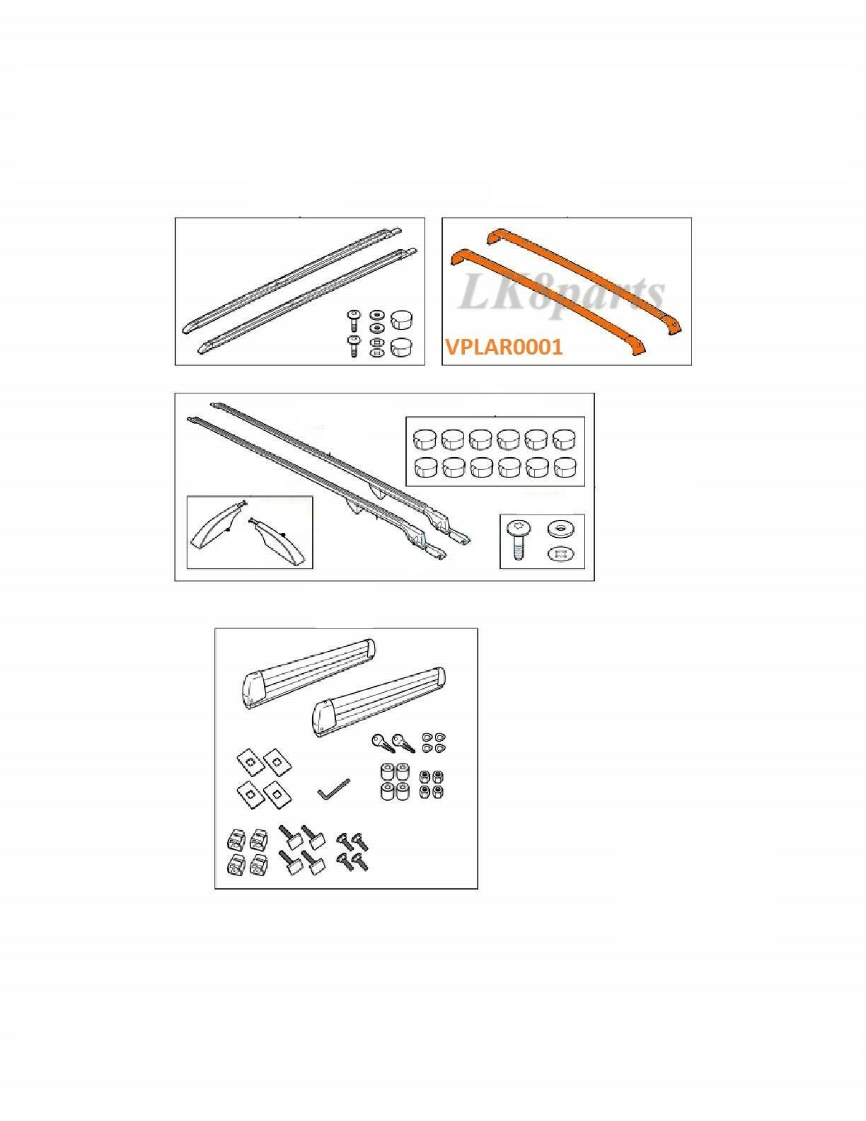 LAND ROVER LR4 LR3 ALUMINIUM ROOF CROSSBARS KIT LR007472