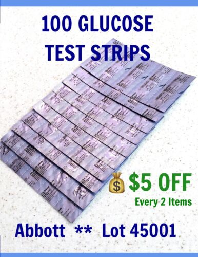 100 blood glucose test strips for precision