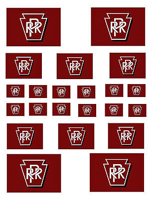 """SHEET OF PENNSY STICKERS  (8.5"""" X 11"""") PENNSYLVANIA  O scale On30 On3  !"""