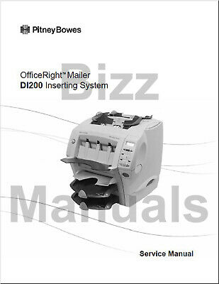 Pitney Bowes Repair Service Parts Manuals Di200 Si1000 Inserter