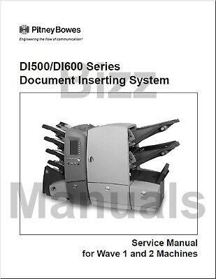 Pitney Bowes Repair Service Parts Manuals Di500 Di600 Si4200 Si4400 Inserter