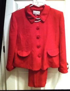 Red Pant suit  sz 12-14