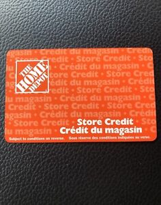 $507 Home Depot Store Credit Gift Card