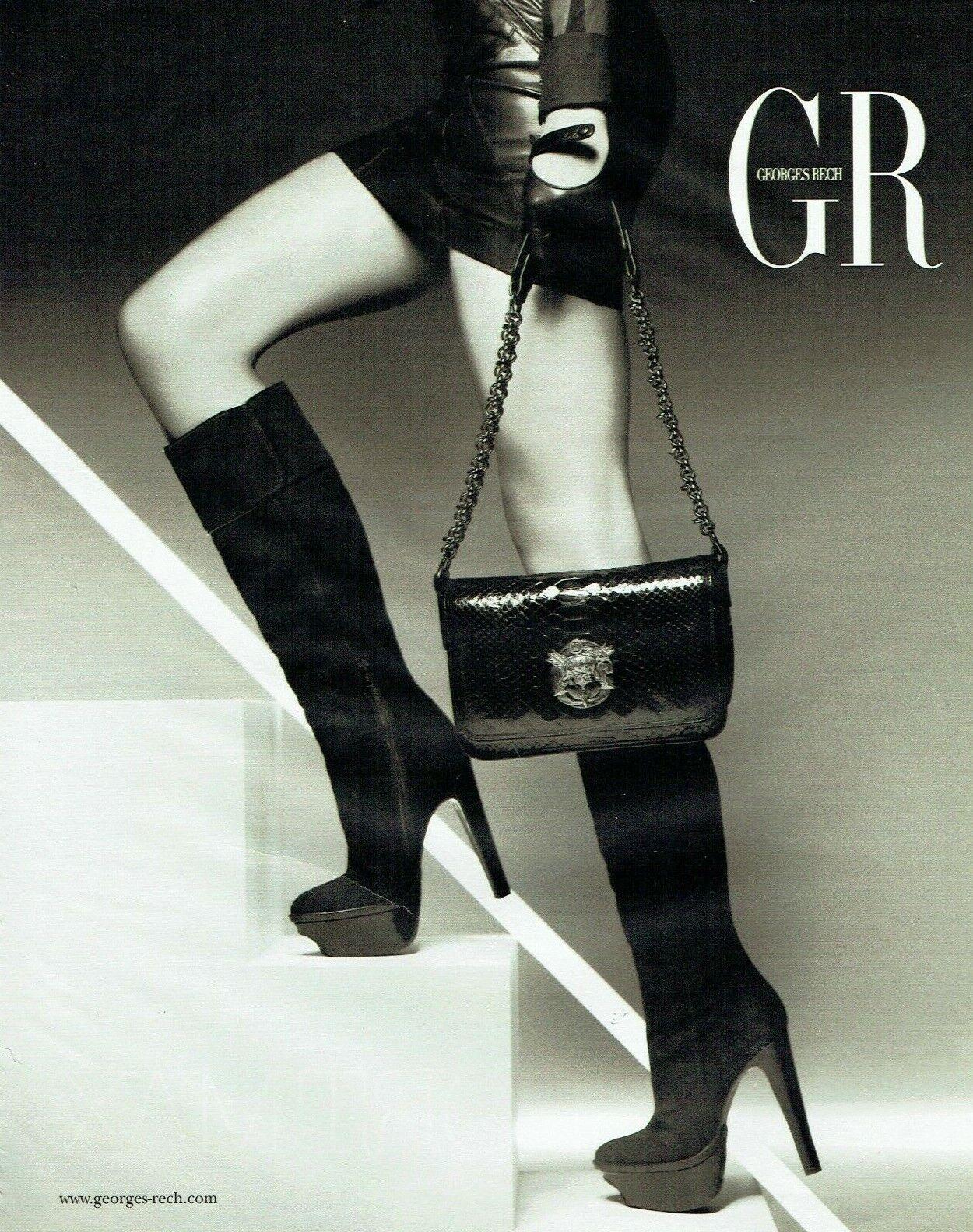 Publicité advertising 129 2010  georges rech coll bottes sac mode  gr