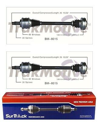 For BMW 840Ci 850Ci 1993-1998 Pair of Rear CV Axle Shaft Assemblies SurTrack Set