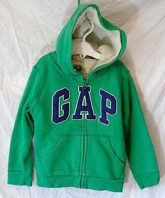 Boys Gap Green Logo Fronted Furry Fleece Lined Hooded Jacket Coat Age 5 Years