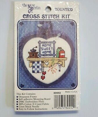 New Berlin Co. Counted Cross Stitch Mini Kit w/ Frame Home Sweet Home