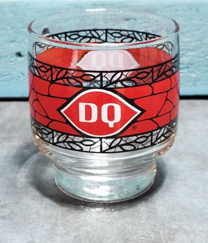 """Vintage Libbey Dairy Queen Glass Sundae Pedestal bottom 3.25"""" tall FREE SHIPPING"""