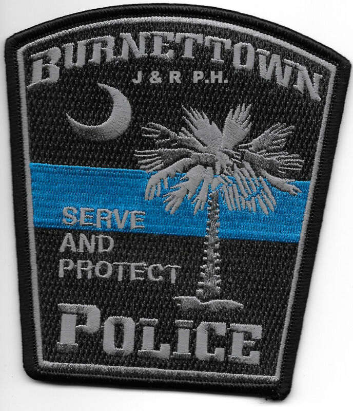"Burnettown, SC ""Serve & Protect"" (4"" x 4.5"" size) shoulder police patch (fire)"