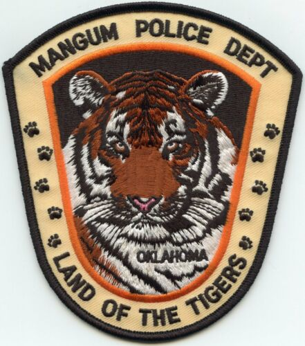 MANGUM OKLAHOMA OK Land of The Tigers POLICE PATCH
