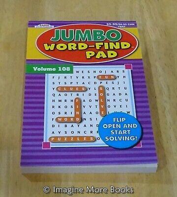 NEW Jumbo Word-Find Pad Vol 108 ~ Kappa ~ 87 Word Search per Volume