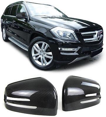 Echt Carbon Spiegelkappen Cover für Mercedes G Klasse W463 GL X166 GLE W166