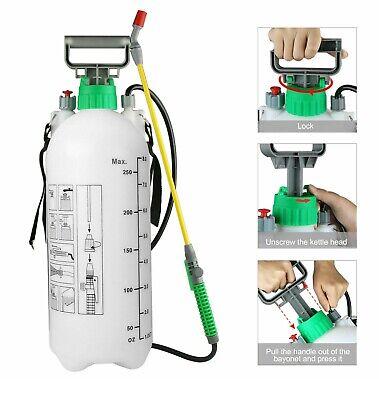 NEW 8L Pressure Sprayer Knapsack Garden Chemical Weed killer Water Spray Bottle