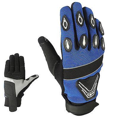 Sport Motorrad Handschuhe Vollfinger Sommer Leder Gloves Gr S M L XL 2XL ()