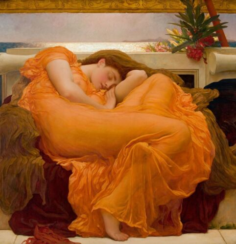 Flaming June by Frederic Leighton, Giclee Canvas Print, in various sizes