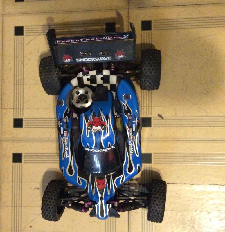 RC REMOTE CONTROL Redcat Racing Shockwave Nitro RC Car & HAND HELD REMOTE CONTRO