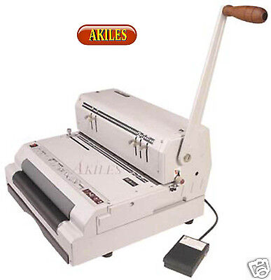 Akiles Coilmac Eci 41 Coil Binding Machine Punch With Electric Inserter New
