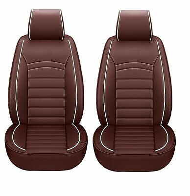1+1 eleganter Autositzbezug Braun Sitzbezüge Kunstleder Schonbezüge Komfort