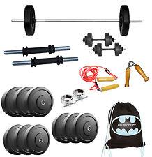 GB 25 Kg Home Gym Set+5 Ft Plain Rod+Dumbell Rods+Accessories