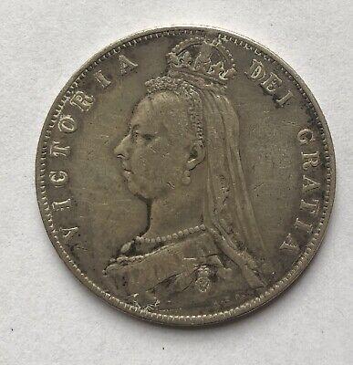 1891 British Silver Half Crown KM# 764