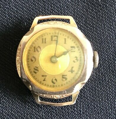 Vintage 9ct solid gold round watch - Lot 4