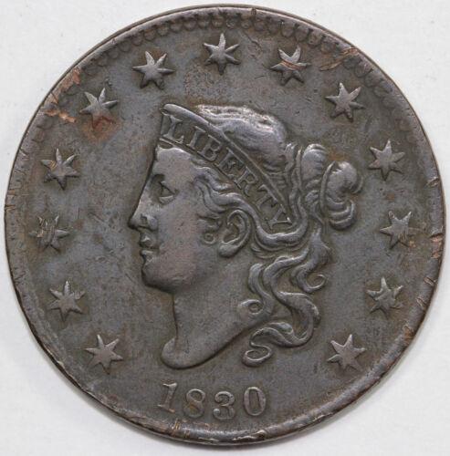 1830 1c Coronet or Matron Head Large Cent