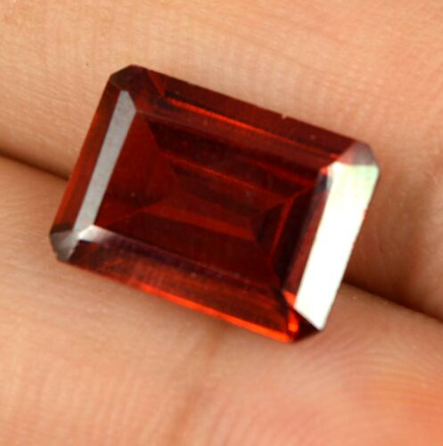8.80 Ct Spain Orange Sphalerite Gems 100% Natural Emerald Cut Certified L9309
