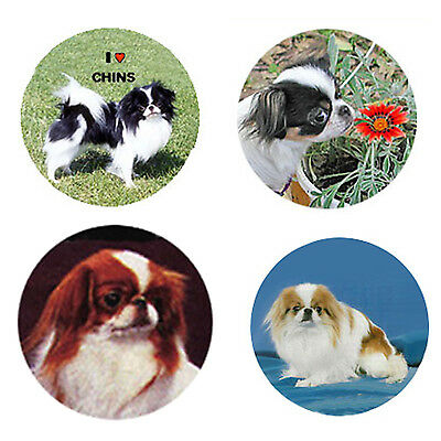 Japanese Chin Magnets 4 Cool Chins for your Fridge or Collection-A Great Gift