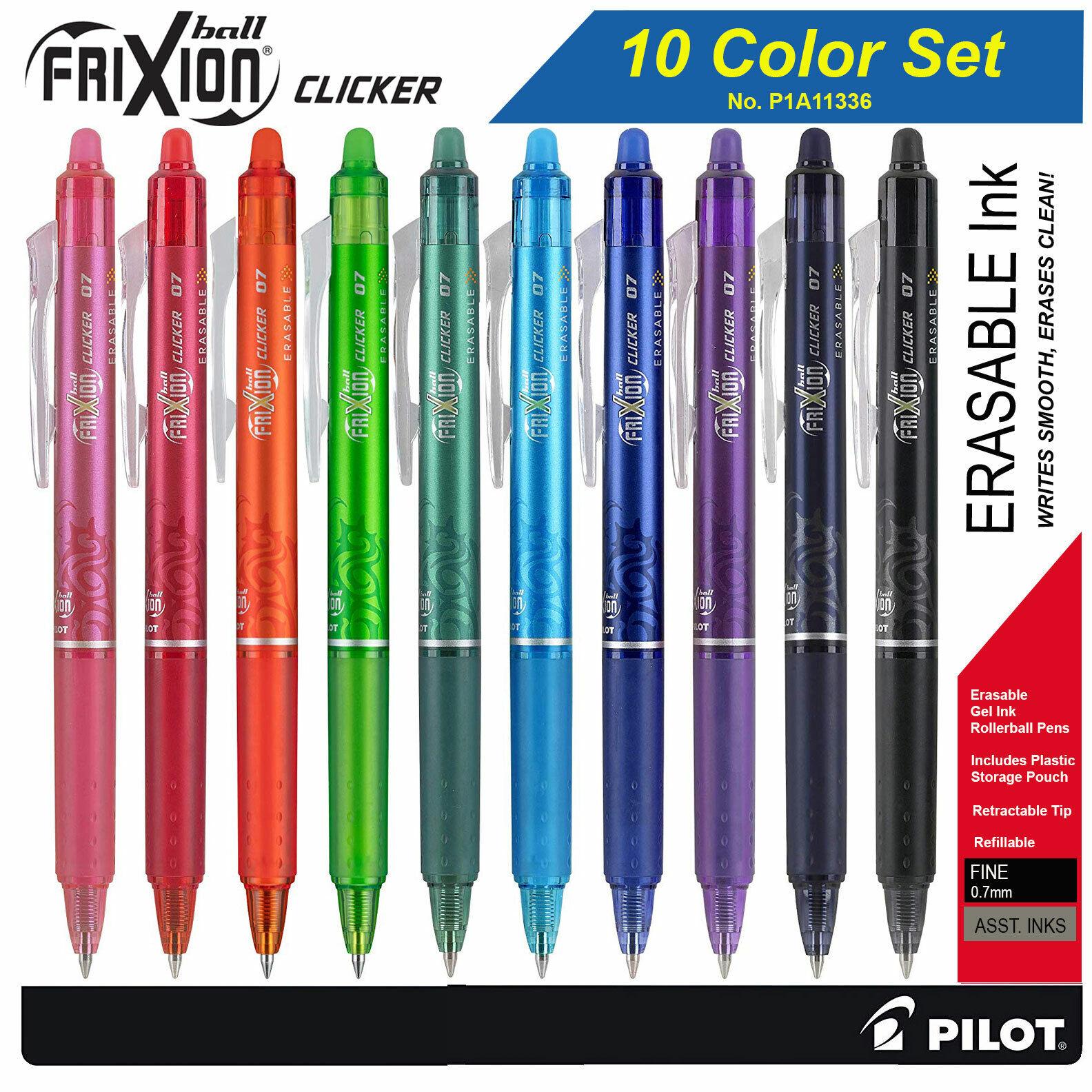 Pilot FriXion Clicker 07 11336 Retractable Erasable Gel Ink