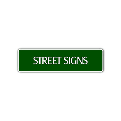 Personalized Street Signs Custom Designed Novelty Any Color Aluminum Metal Sign