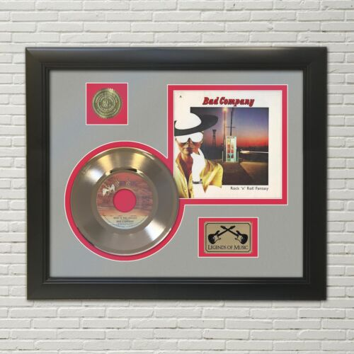 Bad Company Rock N Roll Fantasy Framed 45 Picture Sleeve Record Display.