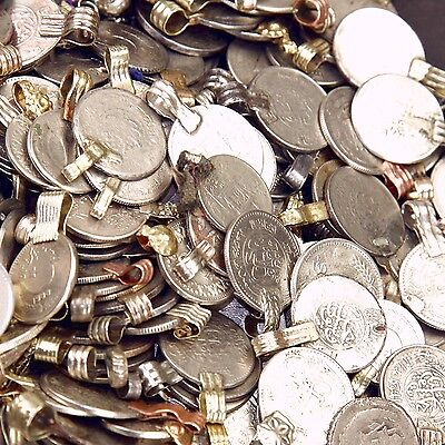 100 real COINS Tribal Belly Dance Kuchi Tribe SMALL ((polished))