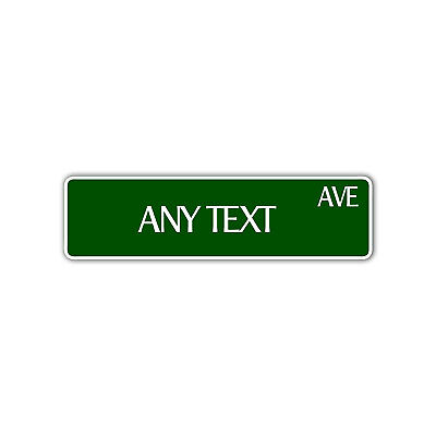 Personalized Street Name Custom Design Novelty Any Color Aluminum Metal Sign