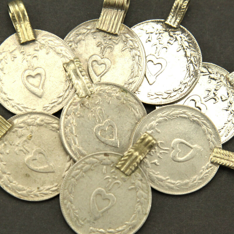 150 real *Heart* COINS Tribal BellyDance ATS Kuchi ((standard unpolished)) HEART
