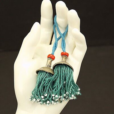PAIR Tribal Jewelry Clothing TASSELS Belly Dance Kuchi Bellydance 729f4