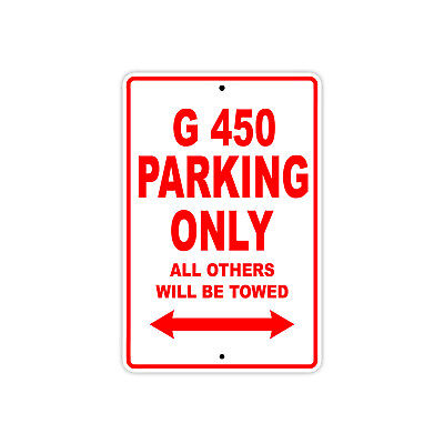 G 450 Parking Only Towed Plane Wall Art Novelty Decor Notice Aluminum Metal Sign