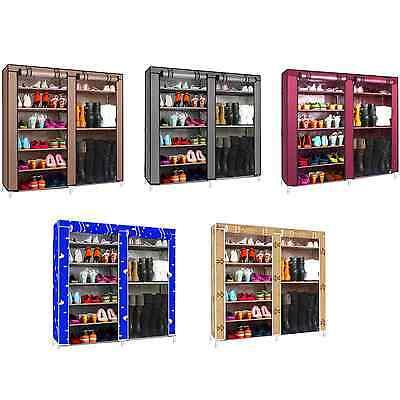 Double Shoe Boot Closet  Rack Shelf Storage Organizer Cabinet Portable- 9 Layer
