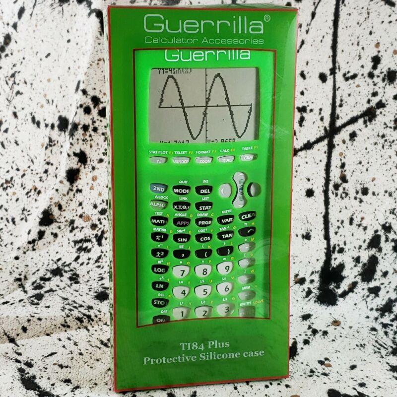 Guerrilla Green Silicone Case Texas Instruments TI-83 Plus Graphing Calculator
