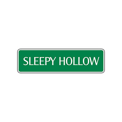 Sleepy Hollow Halloween Aluminum Metal Novelty Street Sign Wall Décor - Halloween Sleepy Hollow