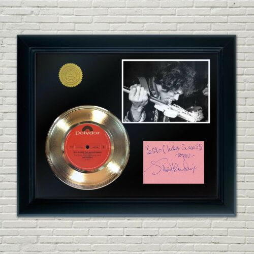 Jimi Hendrix Framed 45 Gold Record Reproduction Signature Display