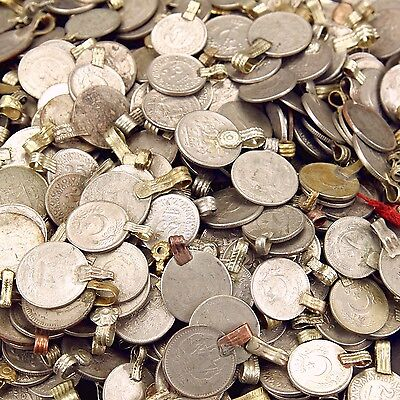 50 real COINS Tribal Belly Dance Kuchi Tribe SMALL ((standard unpolished))