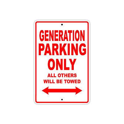 Generation Parking Only Boat Ship Decor Novelty Notice Aluminum Metal Sign