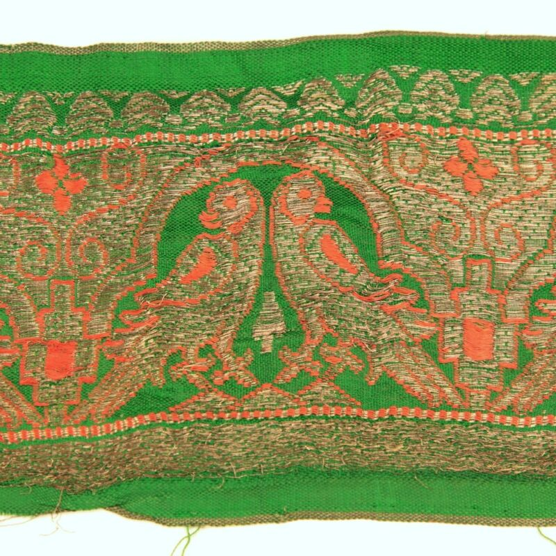 3m (10 foot) LONG Old Antique India SARI Saree TRIM Embroidered Textile 652p8